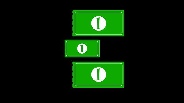 ilustrace 3 zelené bankovky v pohybu